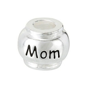 Sterling Silver 10mm Mom Bead
