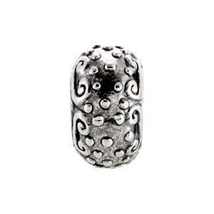 Sterling Silver 10x5.75mm Decorative Bead