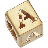 6.5mm Alphabet Block Initial Chain Slide