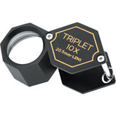 Triplet Loupe 10 x 20.5MM Black