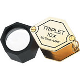 Triplet Loupe 10 x 20.5MM Gold