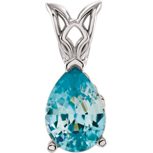 Genuine Blue Zircon Pendant or Necklace