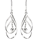 Double Curved Drop Earrings