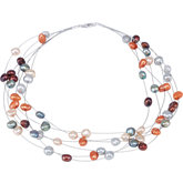 Freshwater Cultured Dyed Nugget Pearl Necklace