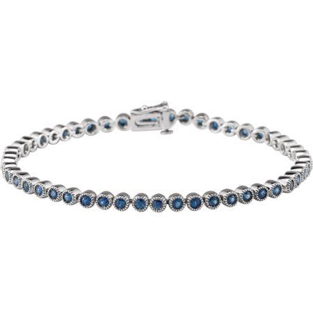 14K White Blue Sapphire 7.25