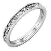 Sculptural Style Eternity Band