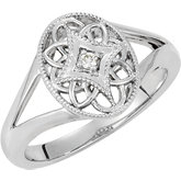 .025 ct tw Diamond Ring