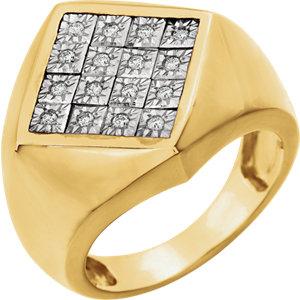 14K Two-Tone 1/5 CTW Diamond Men's Ring