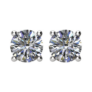 I₁ G-H Diamond Friction Post Stud Earrings