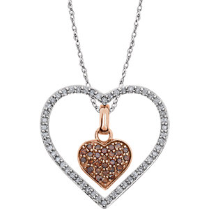 Diamond 3-in1 Heart Necklace