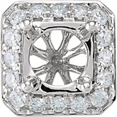 Round Diamond Halo-Styled Cluster Peg Setting