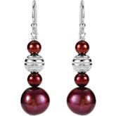 Freshwater Cultured Dyed Pearl Dangle Earrings