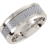 Dura Cobalt™ Beveled Band with Carbon Fiber Inlay