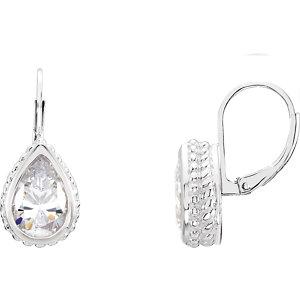 Sterling Silver Cubic Zirconia Earrings