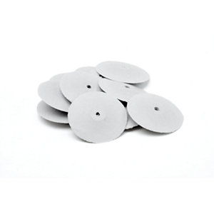 "White Knife-Edge Silicone Pre-Polish Wheels 7/8""x1/4"" - Pack of 10"