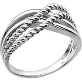 Crossover Rope Design Ring
