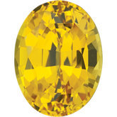 Oval Lab Created Yellow Sapphire