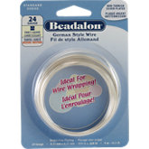 Beadalon®  Fancy Square NF Silver Plated 24 Gauge Wire