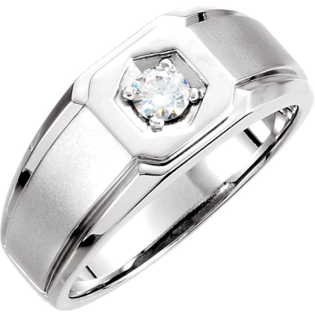 Charles & Colvard Moissanite® Men-s Solitaire Ring