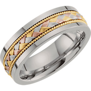 Tri Color 7mm Hand-Woven Band