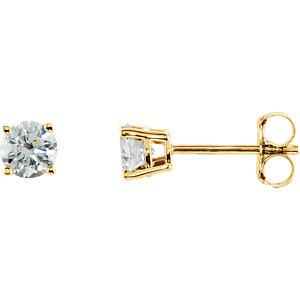14kt Yellow 1/  ATW<br> Diamond Earrings