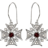 Vintage-Inspired Cross Dangle Earrings