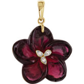 Genuine Brazilian Garnet & Diamond Pendant