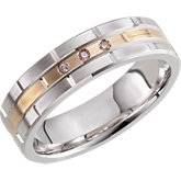 Two-Tone 6mm Diamond Band