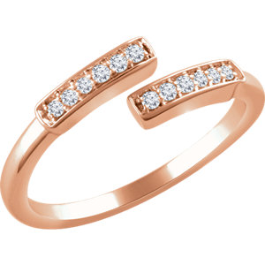 14K Rose 1/10 CTW Diamond Ring