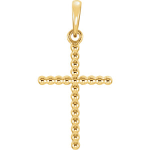 Cross Beaded Design Pendant
