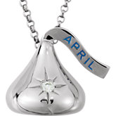 HERSHEY'S KISSES Cubic Zirconia Birthstone Necklace