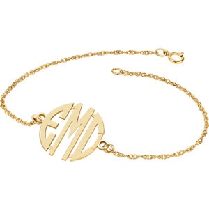 20mm 3 Letter Block Monogram Bracelet  Ref 86007