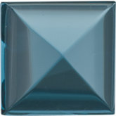 Square Genuine Cabochon London Blue Topaz