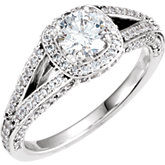 Split Shank Engagement Ring Mounting