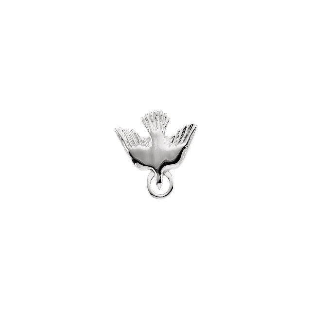 Sterling Silver 15mm Flying Holy Spirit Dove Pendant