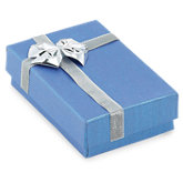 Blue/Silver Large Pendant or Earring Box Pack of 36