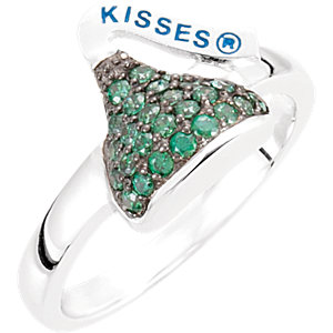 Sterling Silver May HERSHEYS KISSES® Aubic Zirconia Birthstone Ring
