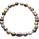 Baroque Graduated Pastel Multicolor Cultured Pearl Strands