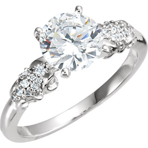 Diamond Semi-Mount Sculptural Engagement Ring or Mounting