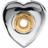 Heart Shape Chain Slide Mounting for Round Center