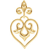 Fleur-De-Lis Decorative Dangle Pendant or Necklace