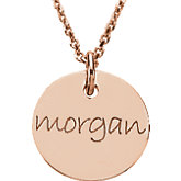Posh Mommy® Engravable Mini Disc Pendant