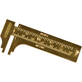 Brass Sliding MM Gauge