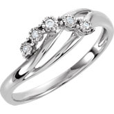 Diamond 5-Stone Promise Ring