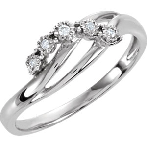 .03 CTW Diamond 5 Stone Ring Ref 650063