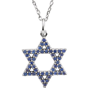 Blue Sapphire Star of David Necklace or Pendant Mounting