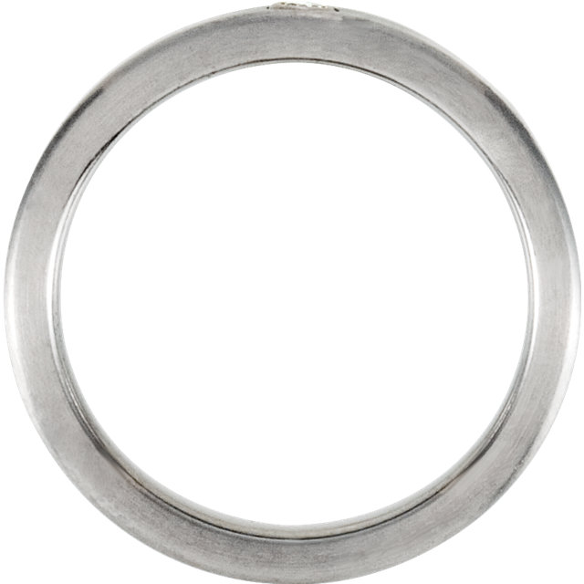 Titanium 6mm .03 CTW Diamond Bezel Band Size 7