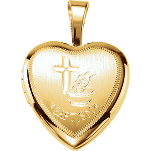 Heart Baptism Locket