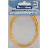 Beadalon® Large Gold Plated Memory Wire