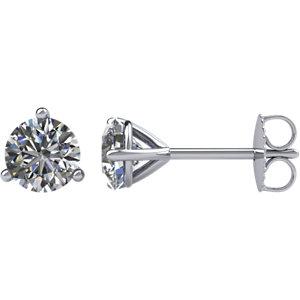 I₁ G-H Diamond Friction Post Stud Earrings